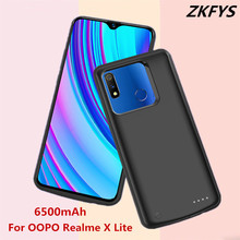 ZKFYS Battery Charging Case 6500mAh Portable High Quality External Power For OPPO Realme X Lite Bank