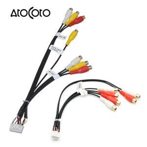 Автомобильный стерео-радиоприемник с 14/20-контактным разъемом, RCA AV IN, выходной провод, жгут проводов, Соединительный адаптер, кабель для KENWOOD ...