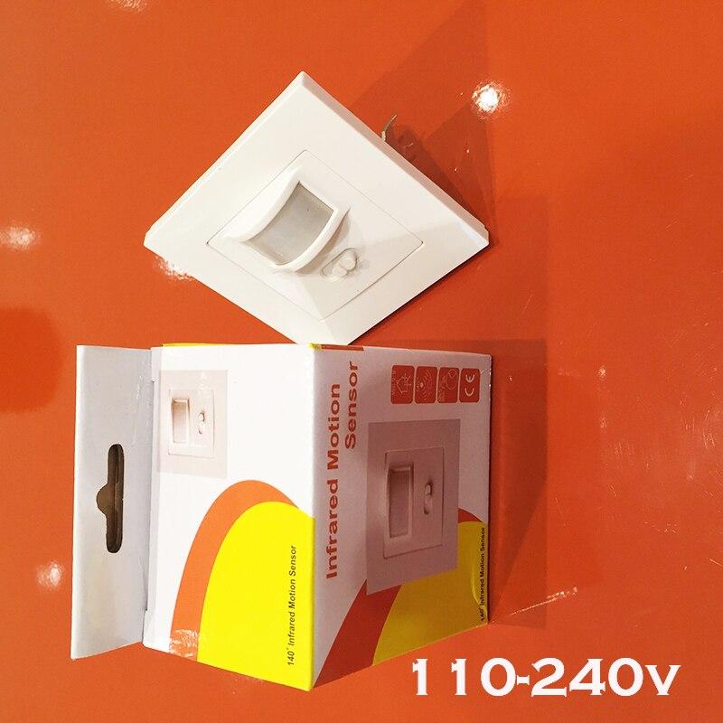 Hot 160 degree high sensitivity PIR Motion Sensor Switch 110v -240v Motion Sensor Automatic wall Light Switch free shipping high quality wall mounted pir motion sensor light switch max 600w load 9m max distance 1pc gs45
