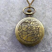 ZRM модное винтажное ожерелье с дизайном «ТАРДИС» Доктор Кто карманные часы ожерелье Gallifreyan ожерелье ювелирные изделия для мужчин и женщин Подарки Dia45mm