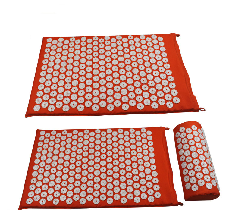 Body Head Foot Massager Cushion Acupressure Mat Relieve Stress Pain Acupuncture Spike Yoga Mat With Pillow Drop Shipping цена 2017
