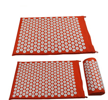 Massaggiatore Cuscino Mat Massaggiatore Tappetini Yoga Alleviare la Digitopressione Stuoia Corpo Dolore Agopuntura Spike Yoga Mat con Set di Cuscini