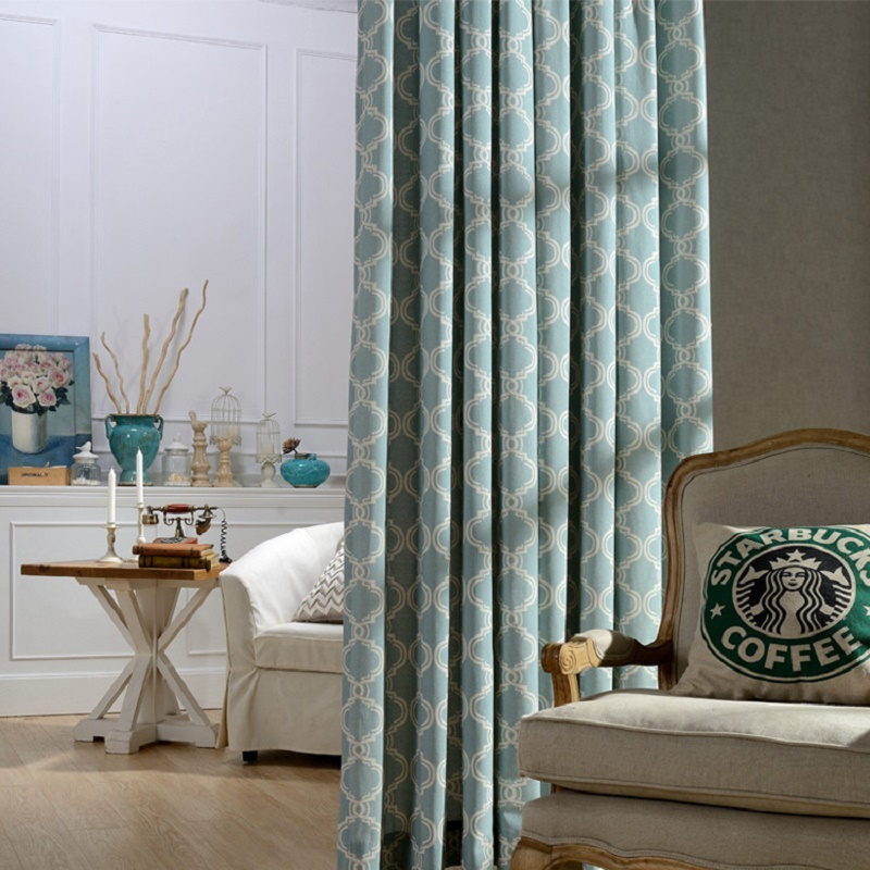 Modern printed decoration blackout curtains for living for Modern drapes window treatment