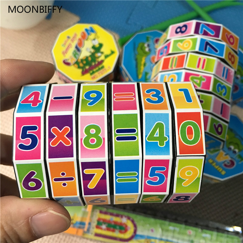1pc Children Education Learning Math Toys Teaching Aids Puzzle Cube For Kids Math Spell Answer Baby Toys