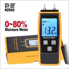 RZ измеритель влажности древесины цифровой измеритель влажности древесины бетон 0-80% Emt01 Деревообработка измеритель влажности измеритель влажности влагомер для древесины