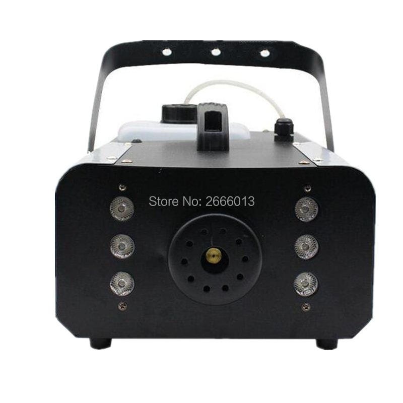 1500W RGB 3in1 LED Fogger Remote and wire control Smoke Machine With 6pcs LED Lights Professional Stage Smoke Machine lighting