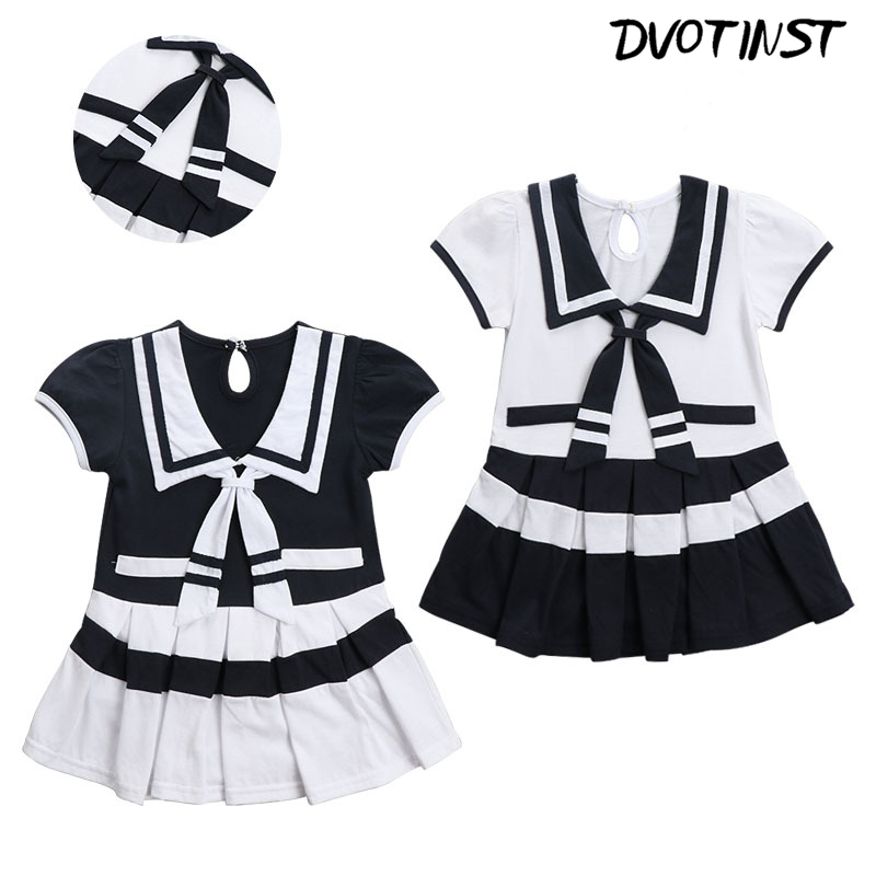 Baby Girls Clothes Summer Short Sleeves Halloween Cosplay Navy Sailor Dresses Outfit Infantil Toddler Jumpsuit Clothing Costume