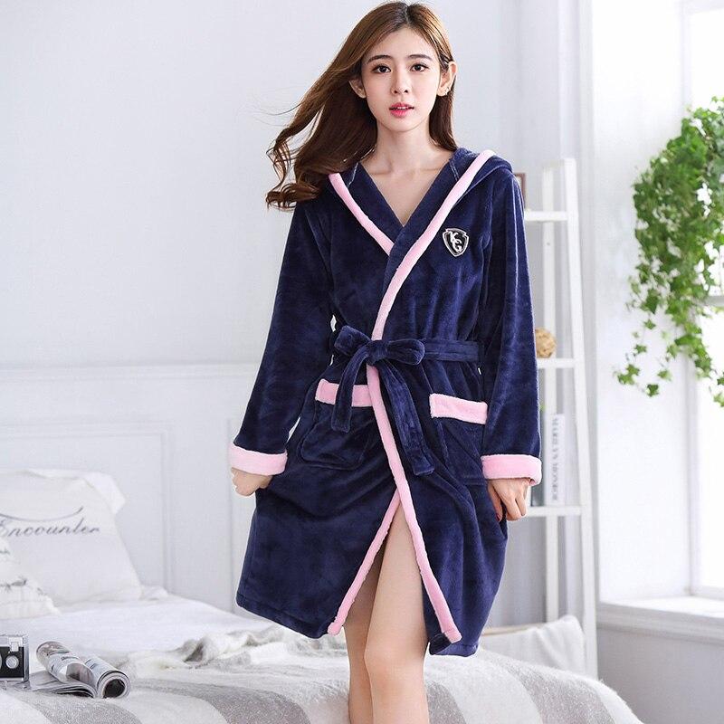 b6a5eb3bec Detail Feedback Questions about Bath Robe Women Winter Warm Coral Fleece  Women s Bathrobe Nightgown Kimono Floral Dressing Gown Sleepwear Female Home  ...