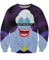 Unisex mulheres homens Trust No cadela Ursula camisola impressão 3d caráter ocasional dos desenhos animados jumper tops bordado suam Moletons