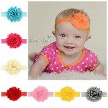 2019 new 2PCS/baby rose hair band Shabby raw mesh flower children accessories