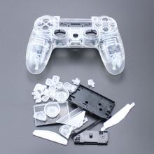 TingDong pour PS4 V1 contrôleur personnalisé clair boîtier Transparent coque housse de protection réparation Mod Kit pour Sony Playstation 4 PS 4 L