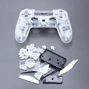 Image 1 - TingDong pour PS4 V1 contrôleur personnalisé clair boîtier Transparent coque housse de protection réparation Mod Kit pour Sony Playstation 4 PS 4 L