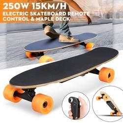 El monopatín eléctrico de cuatro ruedas Longboard Tabla de Skate de arce cubierta inalámbrico control remoto las ruedas de Skateboard para adultos y niños