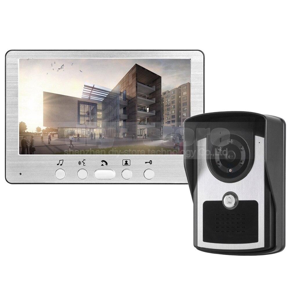 DIYSECUR 7 inch Wired Video Door Phone Doorbell Video Intercom Home ...