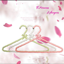 10pcs/lot 40cm Adult Plastic Hanger Pearl Hangers For Clothes Pegs Princess Clothespins Wedding Dress Hanger