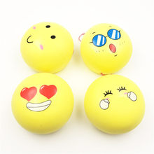 Cute Squeeze Squishy Stress Reliever Soft Kawaii Emoji Face Yellow Bun Scented Slow Rising Interesting Toys Gift Anti Stress Toy(China)