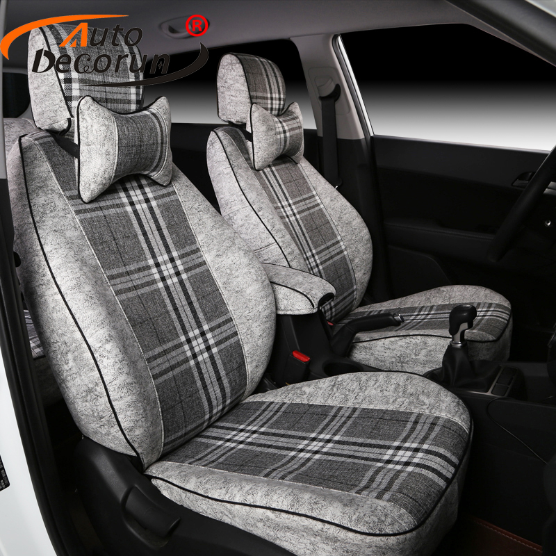 AutoDecorun Dedicated Seat Cover font b Car b font for Kia Cadenza 2012 Flax Automobile Seat