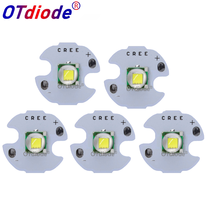 20 PCS CREE XML XM-L T6 LED T6 U2 10W WHITE Warm White High Power LED Chip Emitter With 12mm 14mm 16mm 20mm PCB For DIY