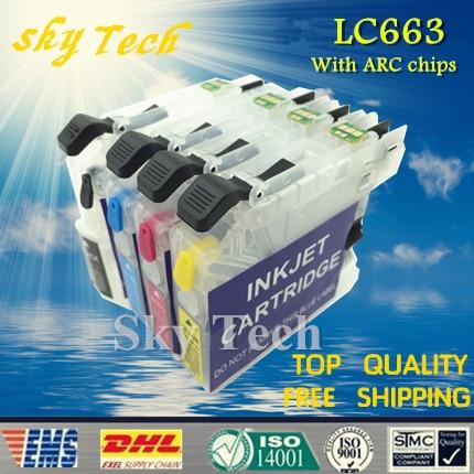 Leeg navulpatroon voor Brother LC663, LC-663 voor Brother MFC-J2320 - Office-elektronica