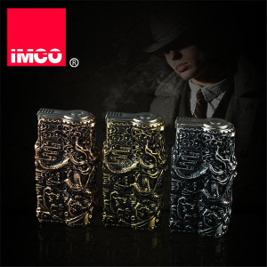 Image 5 - Genuine IMCO Lighter Retro 3D Relief Dragon Gasoline Kerosene Lighter Original Cigarette Lighter Cigar Fire Petrol Lighters