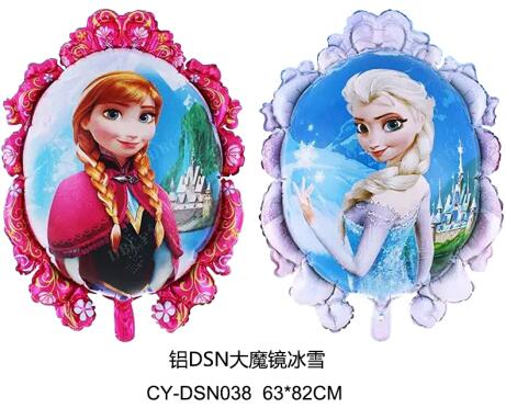 4pcs/lot Anna Elsa Princess Balloon Inflatable Happy Birthday Decorations Cartoon Olaf balloon Globos Toys For Kids