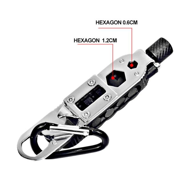 Multi-fonction petit jeu de tournevis Mini EDC outil clé en forme de tournevis fendu porte-clés poche outil de réparation équipement de survie