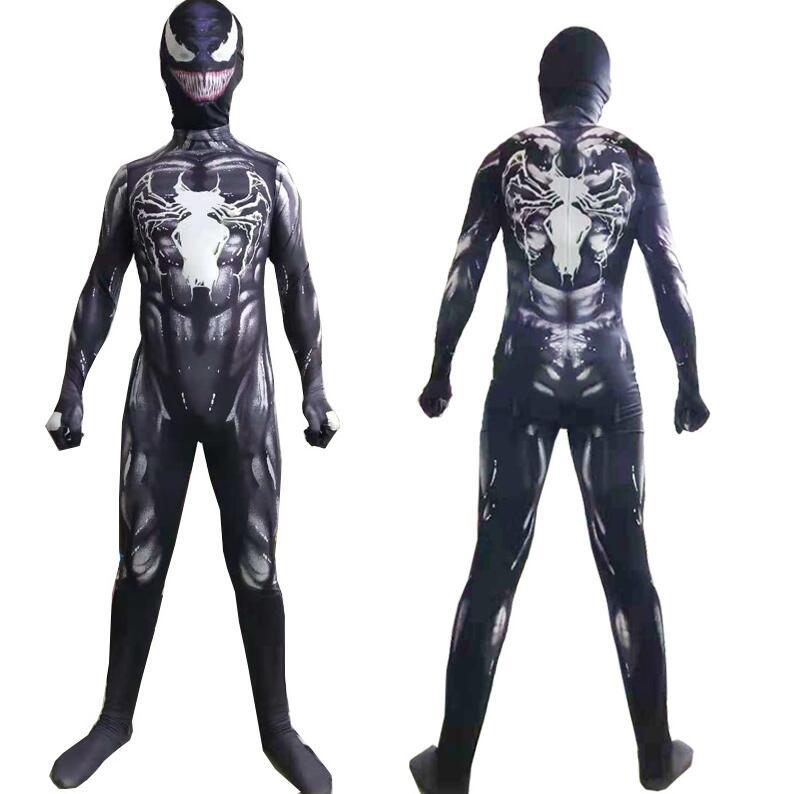 Image 3 - Новый симбиан «Человек паук» костюм Venom Детский Комплект Комбинезон Маска для мальчиков на новый год Косплэй взрослых мужских костюмов героя супергероев