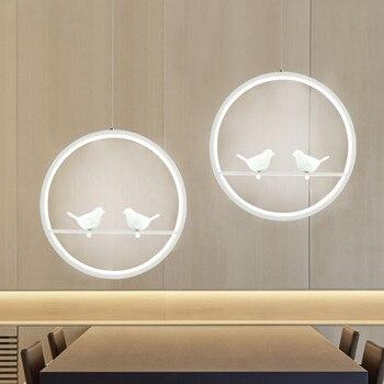Современная креативная светодиодная Подвесная лампа с птицей, Подвесная лампа для столовой, винтажная Подвесная лампа с птицей
