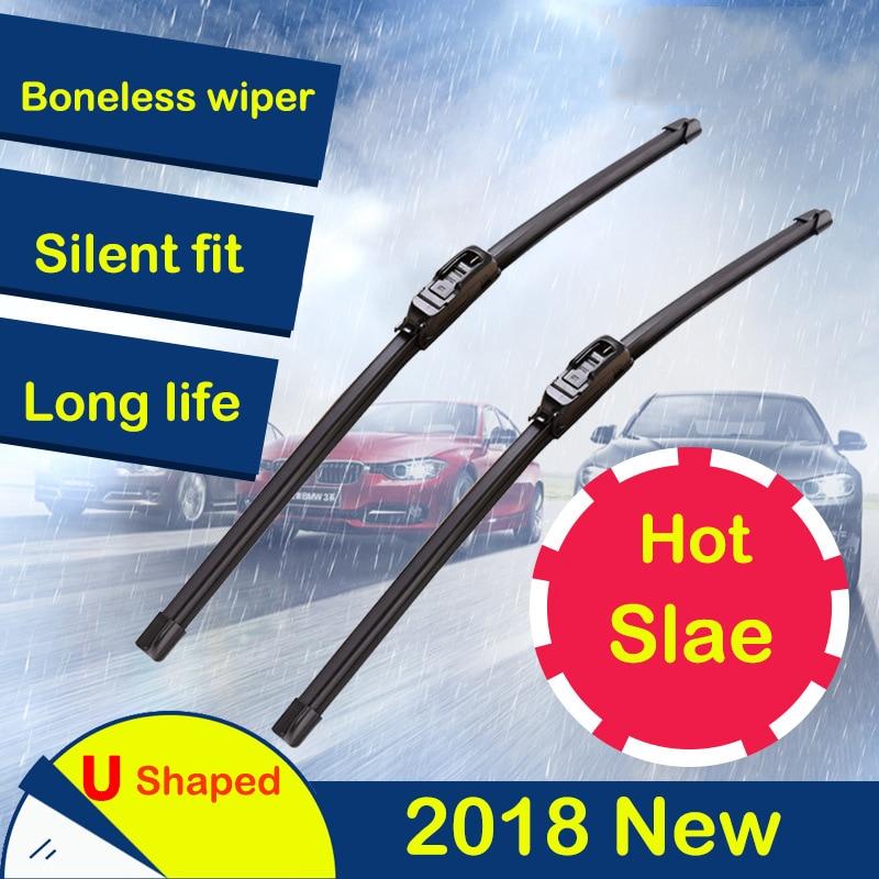 Auto Replacement Parts Boneless Windscreen Wipers Blade Universal Car Wiper Blade 14/16/17/18/19/20/21/22/24/26inch 2pcs/lot