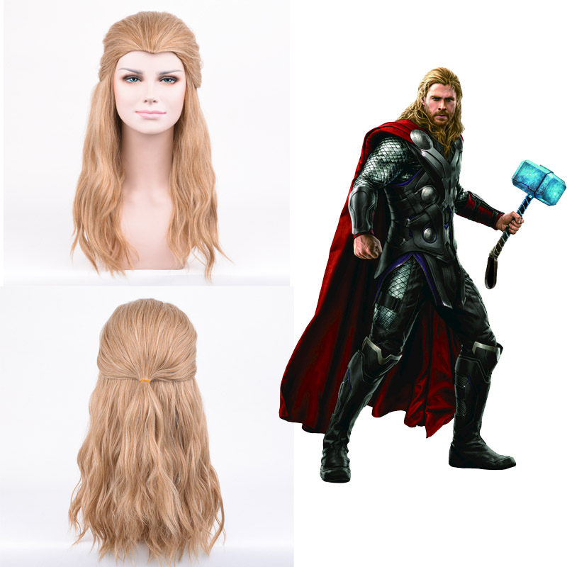 Image 2 - Cosroad The Avengers Thor Cosplay Wig Loki Long black Hair Costumes Adult Halloween Party Plays Wigs-in Movie & TV costumes from Novelty & Special Use
