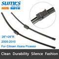 "Wiper blades for Citroen Xsara Picasso (2005-2010) 26""+26""R fit side pin type wiper arms only"