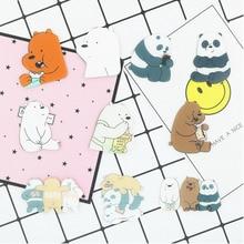 PGY 1 шт. Животное мультфильм булавка Голые Медведи Милый гризли панда ледяной медведь деним Kawaii нагрудные Броши оптом значки модные подарки