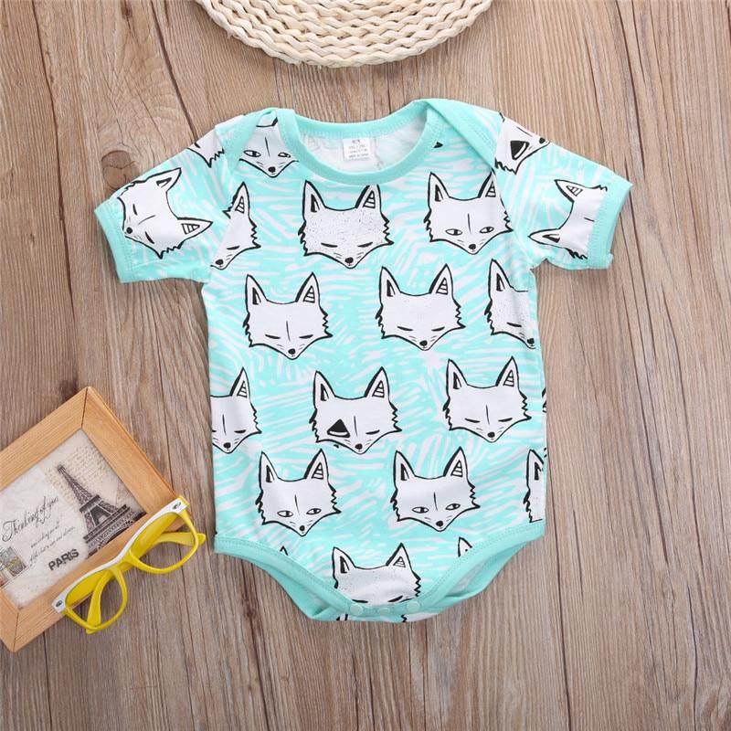 2016 New Toddler Newborn Baby Girl Boy Clothes Cartoon Fox