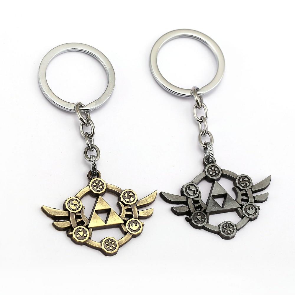 The Legend of Zelda Keychain Power Triforce Key Ring Holder Metal Fashion Car Bag Chaveiro Key Chain Pendant Game Jewelry