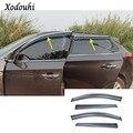 Стайлинг кузова автомобиля палка лампа пластиковое окно стекло Ветер козырек Дождь/Защита от солнца Vent 4 шт для Hyundai Tucson 2019 2020
