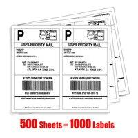 1000 LABEL SELF ADHESIVE STICKY A4 SHEETS ADDRESS LABELS INKJET LASER COPIER PRINTER EBAY AMAZON STICKY