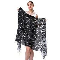 Beach Pareo Summer Silk Scarf Women Luxury Brand Dot Printed Shawls Plus Size For Women Shawls