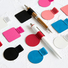 1Pc Self-adhesive for Notebooks Leather Pen Clip Pencil Elastic Loop Journals Clipboards Pen Holder(China)