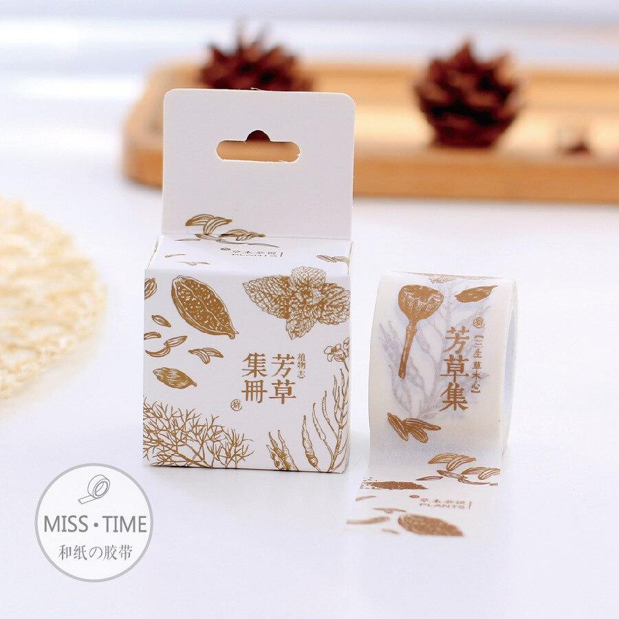 Scrapbook paper kawaii - Chinese Cartoon Washitape Japanese Paper Tape Scrapbooking Washi Tapes Gold Foil Adhesive Masking Kawaii Diy Decorative Cute