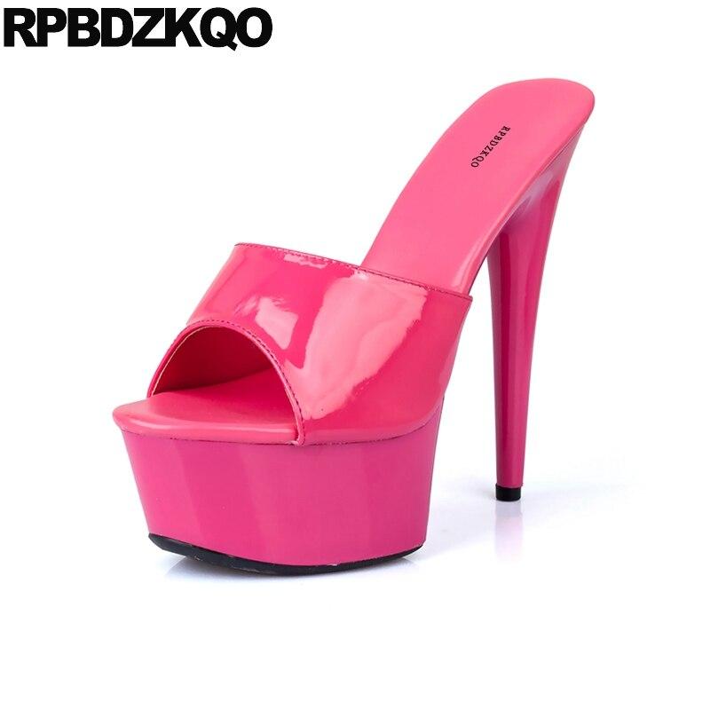 Designer Sandals Women Luxury 2017 Slipper Crossdressed Big Size Stiletto Fetish Shoes High Heels Pumps Stripper Slides Platform цена