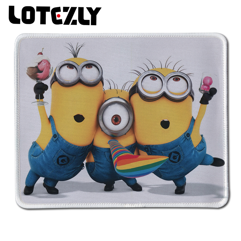 New Anti-Slip PC Cute Cartoon Anime Minions Mouse Pad Locking Edge Rubber Gaming Mice Mat for Optical Computer Mousemat