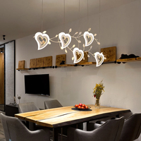 modern creative heart Pendant Lamp Nordic personality art restaurant light bar dining room Hanging Lights led lamps