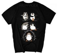 dd5b26ec New Funny T Shirt Men Penguin And Guinea Pig In Porg Graphic T Shirt Short  Sleeve