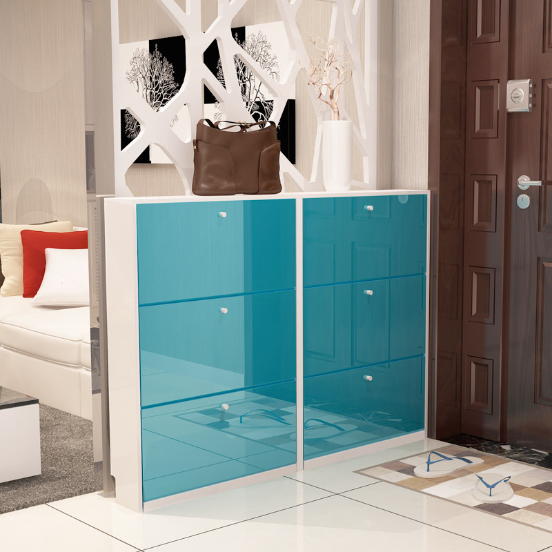 LK1690 Paint Shoes Cabinets Ultra thin Large capacity Shoes