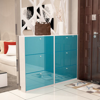 LK1690 Paint Shoes Cabinets Ultra thin Large capacity Shoes Organizer Simple Hallway Cabinet Self contained Storage Rack