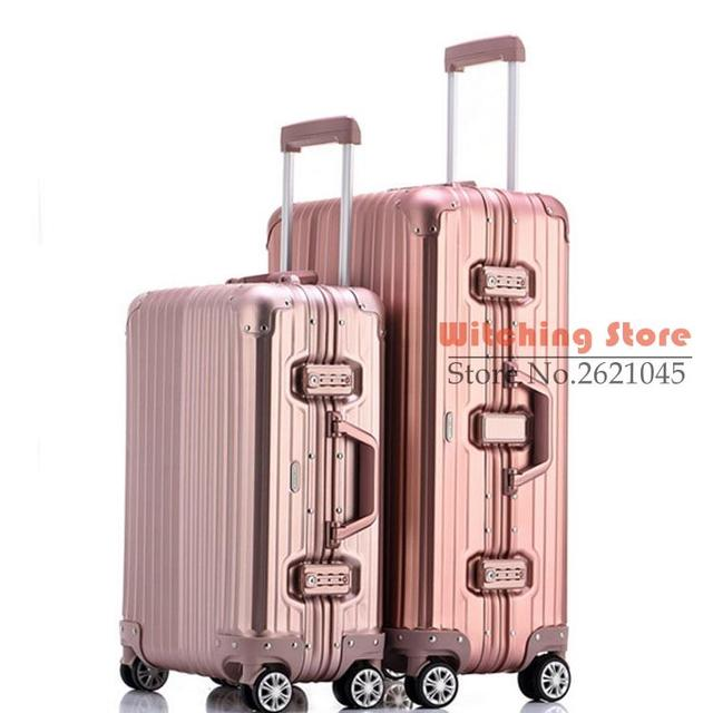 25 INCH 2025# Full aluminum rod direct selling travel box magnesium alloy high grade universal wheel all FREE SHIPPING
