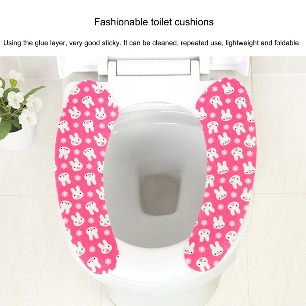 Universal Scalable Closestool Sticker Comfortable Toilet Cover Home Bathroom Washroom Toilet Seat Warm Toilet Seat Cover Mat