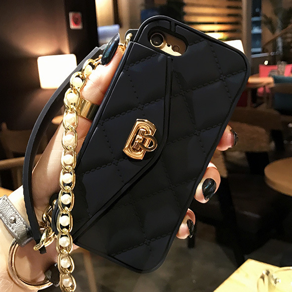 Luxury Women Wallet Phone Case For iPhone X XR XS Max Cover Soft Silicone  Card Slot 52cdd86da16d