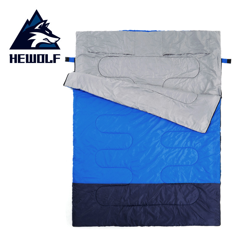 Hewolf Adult outdoor camping sleeping bag envelope pattern couple lover travel warm weather use can split