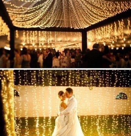 HENYNET 10 M 20 M 30 M 50 M 100 M Led Cordes Fée Mariage Lumière Lampe pour Xmas Party Décoration de noël AC220V Étanche